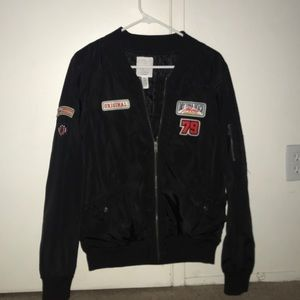 Full Tilt (Tilly's) bomber jacket with patches